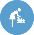Reserved Changing Table Toilette